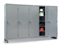 StrongHold 86-MS-2420 Multi-Shift Industrial Storage Cabinet 98x24x72 20 Shelves