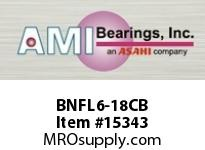 AMI BNFL6-18CB 1-1/8 NARROW SET SCREW BLACK 2-BOLT PLASTIC HSG W/O.C & BS