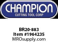 Champion BR20-883 CARB TIP LEAD ANGLE TURN TOOL