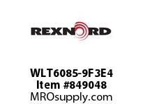 REXNORD WLT6085-9F3E4 LT6085-9 F3 T4P LT6085 9 INCH WIDE MATTOP CHAIN WIT