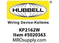 HBL_WDK KP2162W FACEPLT KP SER 1-G 2 JACK WHT