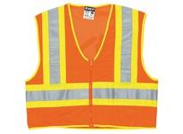 MCR WCCL2OFRXL Mesh FR 4 1/2 Yellow/Silver Stripe Limited Flammability Orange