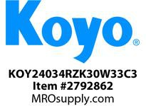 Koyo Bearing 24034RZK30W33C3 SPHERICAL ROLLER BEARING