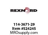 REXNORD 114-3671-29 KU1700-12T 1^ KW 2SS 142570
