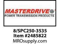 MasterDrive 8/SPC250-3535 8 GROOVE SPC SHEAVE