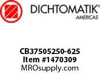 Dichtomatik CB37505250-625 SYMMETRICAL SEAL NITRILE CAPPED POLYURETHANE U-CUP INCH