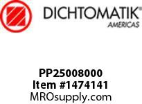 Dichtomatik PP25008000 SYMMETRICAL SEAL POLYURETHANE 92 DURO WITH NBR 70 O-RING STANDARD LOADED U-CUP INCH