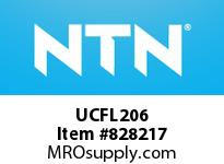 NTN UCFL206 Oval flanged bearing unit
