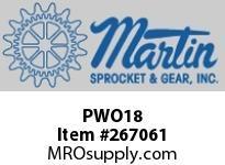 Martin Sprocket PWO18 WRPIPEIRONOFF18