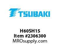 US Tsubaki H60SH15 HT Cross Reference H60SH15 QD SPROCKET HT