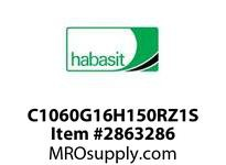 "Habasit C1060G16H150RZ1S 1060/1061-16T X 1-1/2"" Split Sprocket with Keyway and Setscrew"