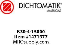 Dichtomatik K30-4-15000 PISTON SEAL PTFE SQUARE CAP PISTON SEAL WITH NBR 70 DURO O-RING INCH