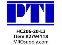 PTI HC206-20-L3 ECC LCK COL BRG-1-1/4 TRL SEAL B4- MOUNTED BALL BRG & INSERT