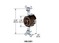 HBL-WDK IG5261 SGL RCPT IG 15A 125V 5-15R OR
