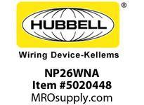 HBL_WDK NP26WNA WALLPLATE 1-G 1) RECT WHITE