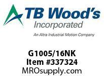 TBWOODS G1005/16NK G100X5/16 NO KW G-SERIES HUB