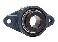 FYH NANFL206 18NP FLANGE UNIT-NORMAL DUTY ECCENTRIC COLLAR-NICKEL PLATED