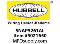 HBL_WDK SNAP5261AL SNAP SGL RCPT 5-15R 15A 125V AL