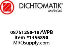 Dichtomatik 08751250-187WPB WIPER