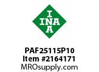 INA PAF25115P10 Flanged plain bearing