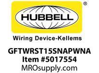 HBL_WDK GFTWRST15SNAPWNA 15A COM ST TRWR SNAP GFR USA WHITE