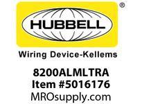 HBL_WDK 8200ALMLTRA HUBBELL-PRO HG DPLX 15A/125V LED TR AL