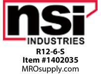 NSI R12-6-S 12-10 AWG BARE RING #6 STUD SMALL DISPLAY PACK