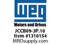 WEG JCCB09-3P.10 3P 9A AND 1NO CON CWC DC COIL Contactors