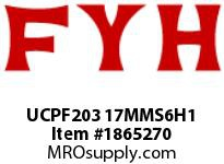 FYH UCPF203 17MMS6H1 SOLID STAINLESS STAMPED UNIT