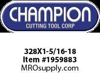 Champion 328X1-5/16-18 HS ROUND SCREW ADJ DIES