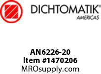Dichtomatik AN6226-20 NU70R SYMMETRICAL SEAL AN6226 SERIES NITRILE 70 DURO SYMMETRICAL U-CUP INCH