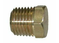 MRO 28205S 3/4 BRASS SOLID HEX HD PLUG