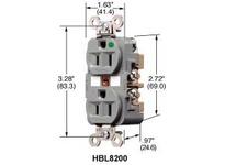 HBL-WDK HBL8200WMRI MRI RCPT HG 15A 125V 5-15R W