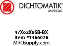 Dichtomatik 47X62X8SB-BX DISCONTINUED