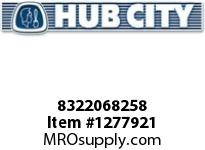 HubCity 8322068258 CONE BEARING HM807046 OR EQ