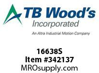 TBWOODS 16638S 16X6 3/8-SF STR PULLEY