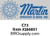 Martin Sprocket C73 CHISELHALFROUNDSTD5/16