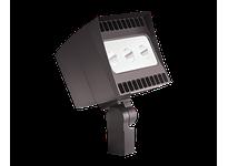 RAB EZLED78SFYB44/PC EZFLOOD 78W WARM LED 3HX3V 120V PC SLIPFITTER 3 X 26W BZ