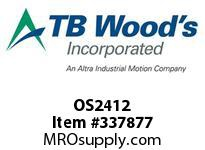 TBWOODS OS2412 OS24X1/2 FHP SHEAVE