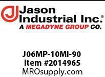 Jason J06MP-10MI-90 ADAPTOR 90* EL M NPT X M JIC