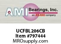 AMI UCFBL206CB 30MM WIDE SET SCREW BLACK 3-BOLT FL ROW BALL BEARING