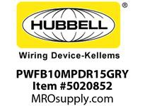 HBL_WDK PWFB10MPDR15GRY DR15GRYP2 W/ PLATE 10G STRANDED