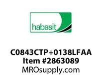 "Habasit C0843CTP+0138LFAA 843 Chamfer Top Plate 1.38"" Low Friction Acetal"