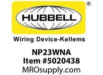 HBL_WDK NP23WNA WALLPLATE 2-G 2 BOX MT BLANK WHITE