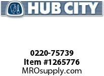 HubCity 0220-75739 SS185 60/1 A WR 56C .938