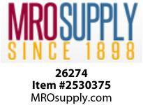 MRO 26274 1/4OD X 1/8 M-RUN-TEE W/26003