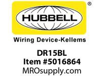 HBL_WDK DR15BL DECO RCPT COMM GRD 15A 125V 5-15R BL