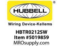 HBL_WDK HBTR0212SW WBPRFRM RADI 90 2Hx4W PREGALVSTLWLL