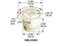 HBL-WDK HBL3335C LKG FLG-RCPT 30A 125/250V 3P3W