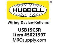 HBL_WDK USB15C5R RCPT DUP 15A 125V 5A 5V USB PORT C R